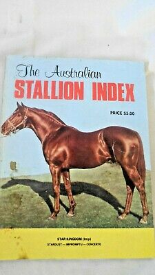 The Australian 1976 Stallion Index First Issue - Percival Publishing Co.