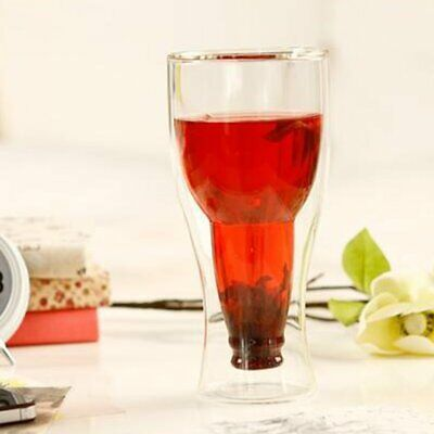 Inverted Bottle Double Fresh Juice Transparent Glass Red Wine Cup