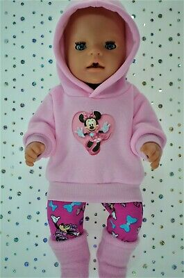 "Play n Wear Dolls Clothes To Fit 17"" Baby Born PINK HOODIE~LEGGINGS~BOOTS"