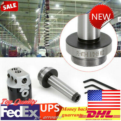 For Lathe Milling Tool+Hex T-Wrench Boring Head w/Morse Taper Shank 50mm MT3-M12