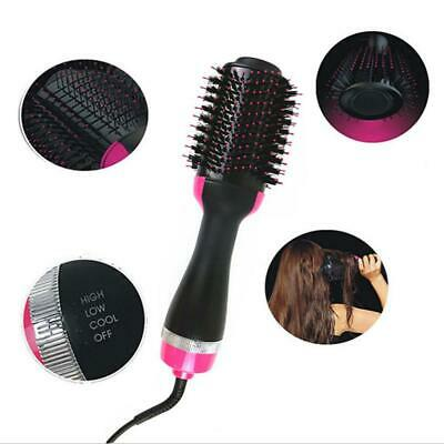 New 3 In 1 One Step Hair Dryer Comb and Volumizer Pro Brush Straightener Curler