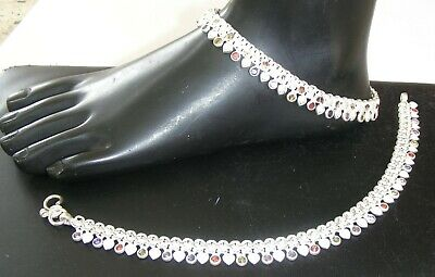 925 Sterling Silver Indian Handmade Ethnic Multi Enamel Fashion Anklets Fashion Jewelry Jewelry & Watches