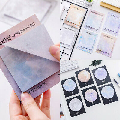 Memo Pad Sticker Notebook Creative Planets Stationery Sticky Notes Cute Bookmark
