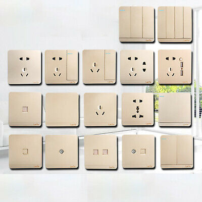Light Switch Electrical Mains Socket Gold Moulded Switch&Sockets-Complete Range