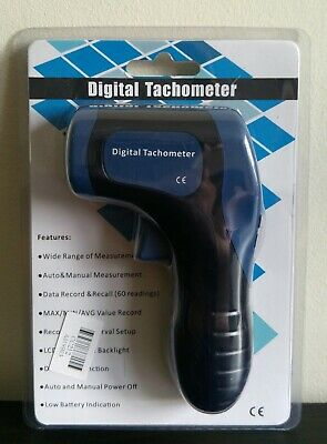 Handheld Digital LCD Photo Laser Tachometer Meter NON-CONTACT Tach Tester