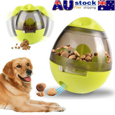 Pet Dog Interactive Tumbler Food Dispenser Feeder IQ Puzzle Treat Ball Toys AU