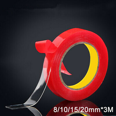 300cm 8,10,15,20 MM Vehicle Double Sided Sticker Car Adhesive Acrylic Foam Tape