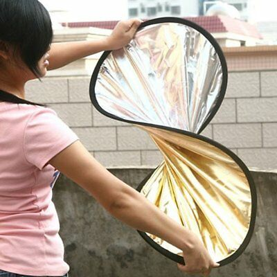 2 in 1 Light Reflector Portable Collapsible Disc Photography Reflect NQ