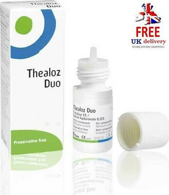 Thealoz Duo 10ml Preservative Free Eye Drops For Dry, Gritty Eyes *Multi Buy*