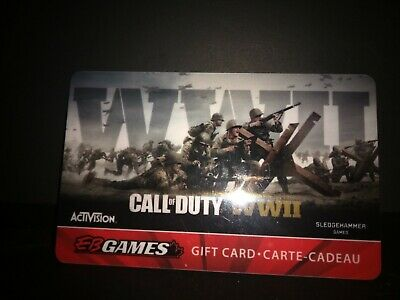 EB Games Call of Duty Gift cards