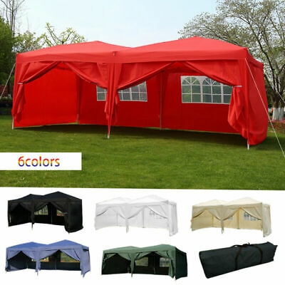 6x3m Garden Heavy Duty Pop Up Gazebo Marquee Party Tent Wedding Canopy Outdoor