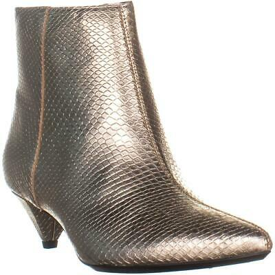 81b2aed2cf6 CALVIN KLEIN LARISSA Pointed Toe Ankle Boots, Soft Gold, 7.5 US / 37.5 EU