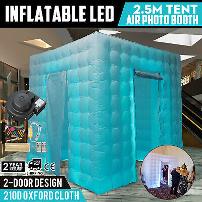 2 Door Inflatable LED Air Pump Photo Booth Tent 7 Colors 2.5M Colorful