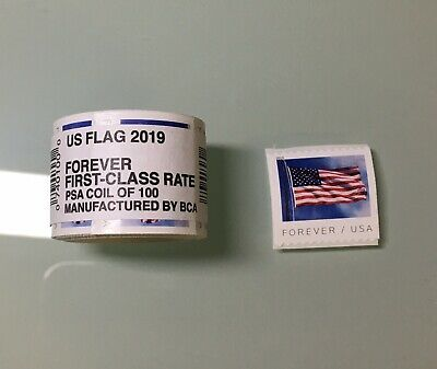 Coil Of 100 Stamps 2019 USPS Sealed Roll First Class Forever