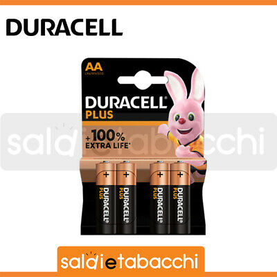 40 Batterie Alcaline Stilo Aa Duracell Plus Power 1,5V Lr6 10 Blister Da 4 Pile