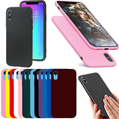 Case For iPhone 11 Pro XR XS MAX 6s 8 7 Plus Soft Liquid Rubber Phone Case Cover