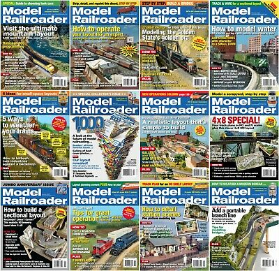 Model Railroader Magazine's (2006-2017) + *Great Model Railroads* (3 DVDs) PDF's
