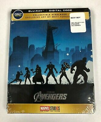 Marvel: The Avengers Blu-Ray Collectible Steelbook Matt Ferguson Art NEW