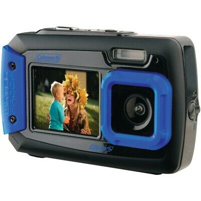 New Coleman 2V9WP-BL 20.0-Megapixel Duo2 Dual-Screen Waterproof Digital Camera (