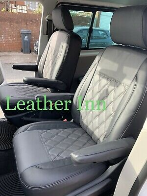 Vw Transporter T5,T6 Seats Covers 2 Captain Seats With 4 Armrests