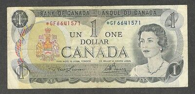 1973 *GF $1.00 BC-46aA F+ SCARCE Bank of Canada Key ASTERISK REPLACEMENT Note
