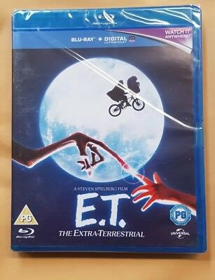 ET - The Extra Terrestrial (with UltraViolet Copy) [Blu-ray] New Sealed