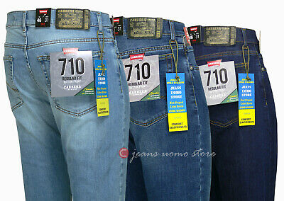 Jeans uomo New Carrera 710 cotone denim stretch cn bottoni vestibilità LEVIS 501