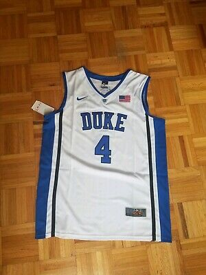 376ffe7a7d57 Duke Blue Devils  4 J.J Redick Stitch White Basketball Jersey Men L Tags  New!