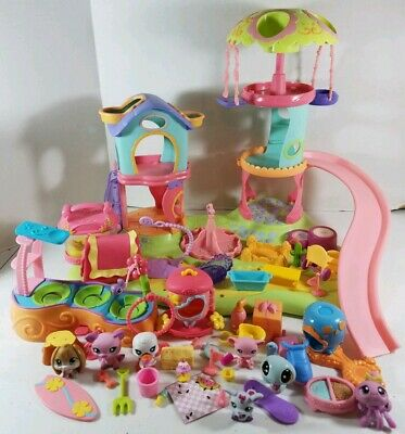 Littlest Pet Shop Whirl Around Playground House Playset with Pets & Accessories