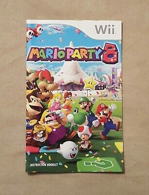 Nintendo Wii - Mario Party 8 - INSTRUCTION BOOK ONLY - no game included