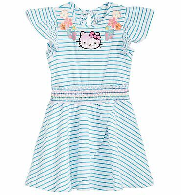 68d3beef220a $90 Hello Kitty Girl's Kid's Blue White Striped Pullover Tee Dress Size 6