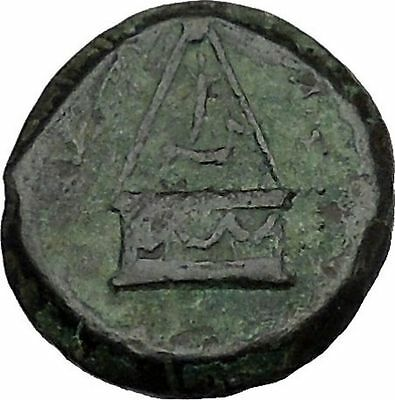 TARSUS in CILICIA 2-1stCenBC Tyche Sandan Lion Pyre Ancient Greek Coin i41639