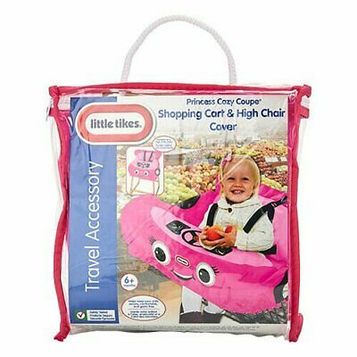New Little Tikes Princess Cozy Coupe Shopping Cart & High Chair Cover Pink