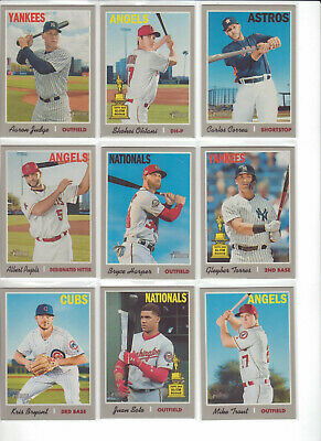 2019 Topps Heritage  Master Set (500) 1-500 w/ 100 SP Short Prints TROUT ACUNA
