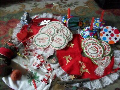 Christmas Mixed Lot Box Lot Misc Stuff  As Is Lot Bag Lot Christmas Decorations