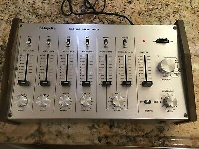 Vintage Lafayette Disc/mic Stereo Mixer