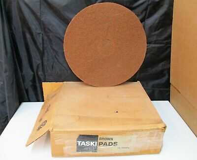 "Taski Pads 17"" Brown Dry Stripping Qty 10 New"
