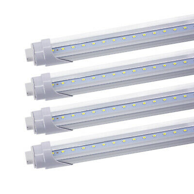 JESLED 8 Pack R17D HO T8 8FT LED Tube Light Bulbs 45W 4800LM Clear Lens 6000K