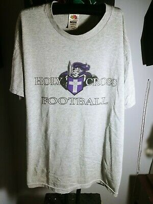 bd2c2f5d Vintage College of Holy Cross Crusaders Football GRAY T-shirt SIZE LARGE