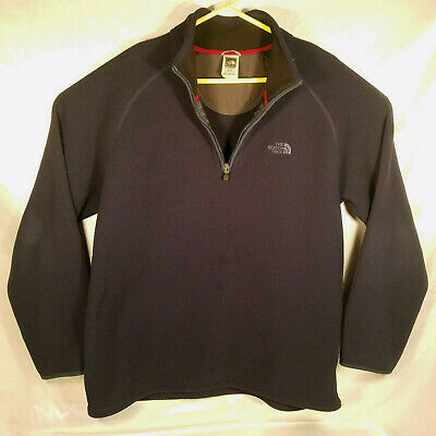 67be748f2 THE NORTH FACE Waffle 1/4 Quarter Zip Fleece Lined Pullover Jacket ...