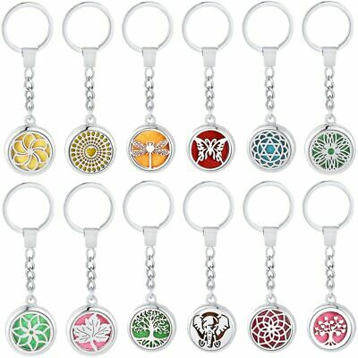Tree of Life Aromatherapy Keychain Stainless Steel Diffuser Locket Perfume