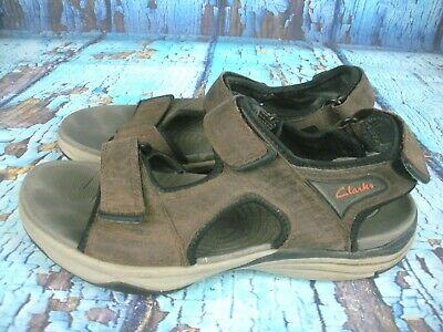 15799c3422a CLARKS BROWN LEATHER Sport closed end Sandals Sz 11 med - $31.45 ...