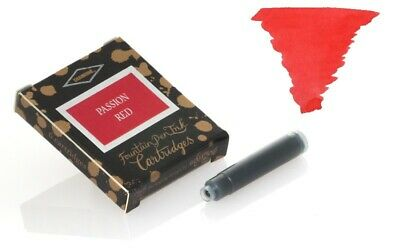 Diamine - Standard Cartouches d'encre, Passion Red 6 cartouches