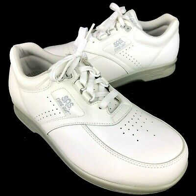 5bbe75236f SAS Time Out White Leather Diabetic Walking Shoes Sneakers Mens Size 7.5  Wide