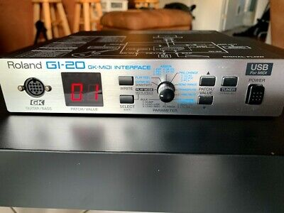 GKC5 CABLE ROLAND GI-10 GUITAR MIDI INTERFACE SYNTHESIZER 20 /& POWER SUPPLY