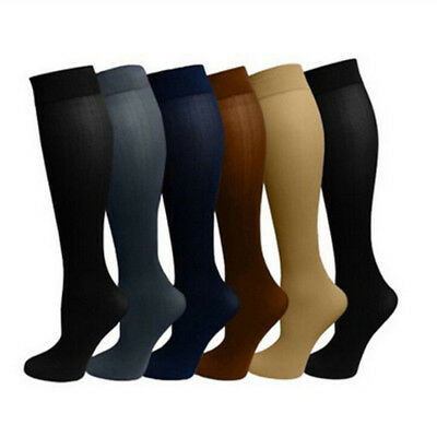 Compression Leg Sleeve Socks Stockings Graduated Support Men's Women's (S-XL) #