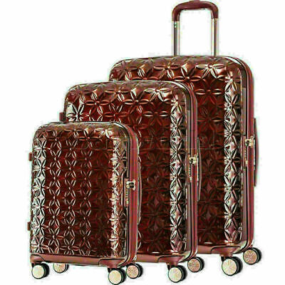 Samsonite Theoni Hardside Suitcase Set of 3 Red 10436, 10435, 10433 with FREE Sa