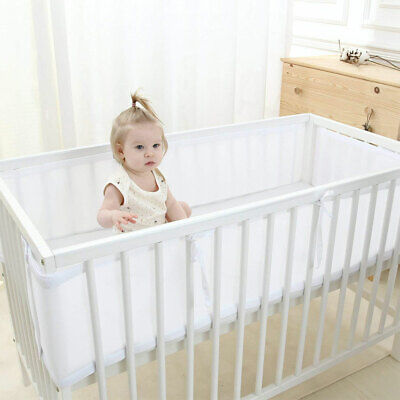 Decorative Crib Liner For Baby Bed Bumper Toddler Nursery Breathable Mesh Liner