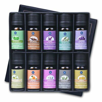 LM Essential Oils Set 10*10ML 100% Pure Top Therapeutic Grade Aromatherapy Oil