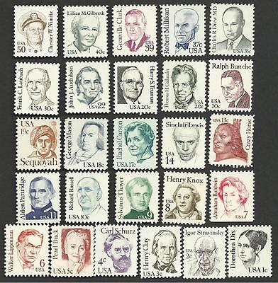 US, #1844-69 Great Americans full set 26 stamps, MNH